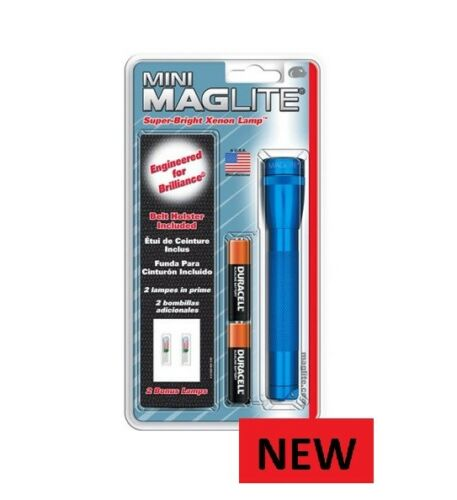 BRAND NEW BLUE    MAGLITE 96 TORCH WITH POUCH  L@@K  UNITED KINGDOM  SHIPPING...