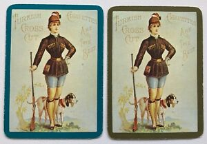 Pair-of-Vintage-Wide-Swap-Playing-Cards-TURKISH-CROSS-CUT-CIGARETTES