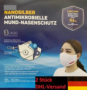 2 x FFP2 Nanosilber Mundschutz, Atemschutzmask