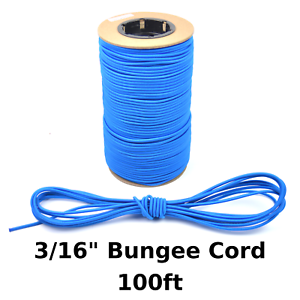 """50ft 3//16/"""" Green Bungee Cord Marine Grade Heavy Duty Shock Rope Tie Down Stretch"""