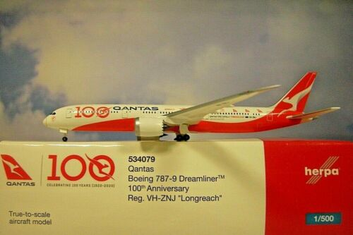 Herpa Wings 1:500  Boeing 787-9  Qantas VH-ZNJ 100th  534079  Modellairport 500