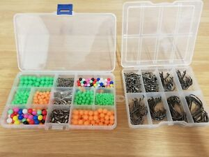 Sea-Fishing-Rig-Set-Over-650-Pieces-Circle-Hooks-Beads-Swivels-Crimps-Free-Gift