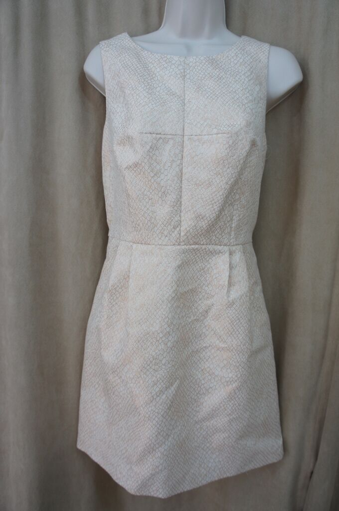 Kensie Dresses Sz 8 Cream Gold Combo Sleeveless Cocktail Party Dinner Dress