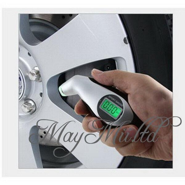 SI Digital Auto Car Motorcycle LCD Air Pressure Tire Tyre Gauge Tester Tool