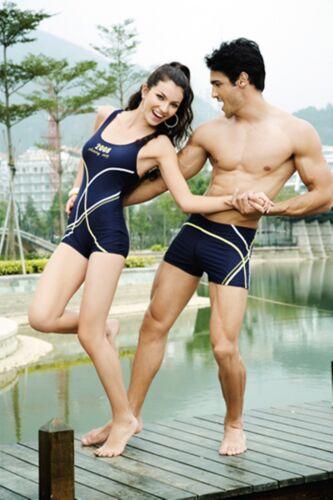 Dignitoso e alla moda onorevoli Costumi da bagno // nuoto costume NERO CON GIALLO TUTTO IN UNO