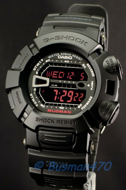 CASIO G-SHOCK Mudman Sport G-9000MS-1 Matte Black Watch 100% Original New