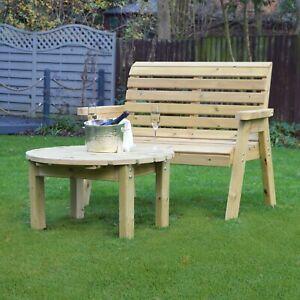 Barrowden Outdoor Wooden 2 Seater Garden Bench Patio Furniture Chair Ebay