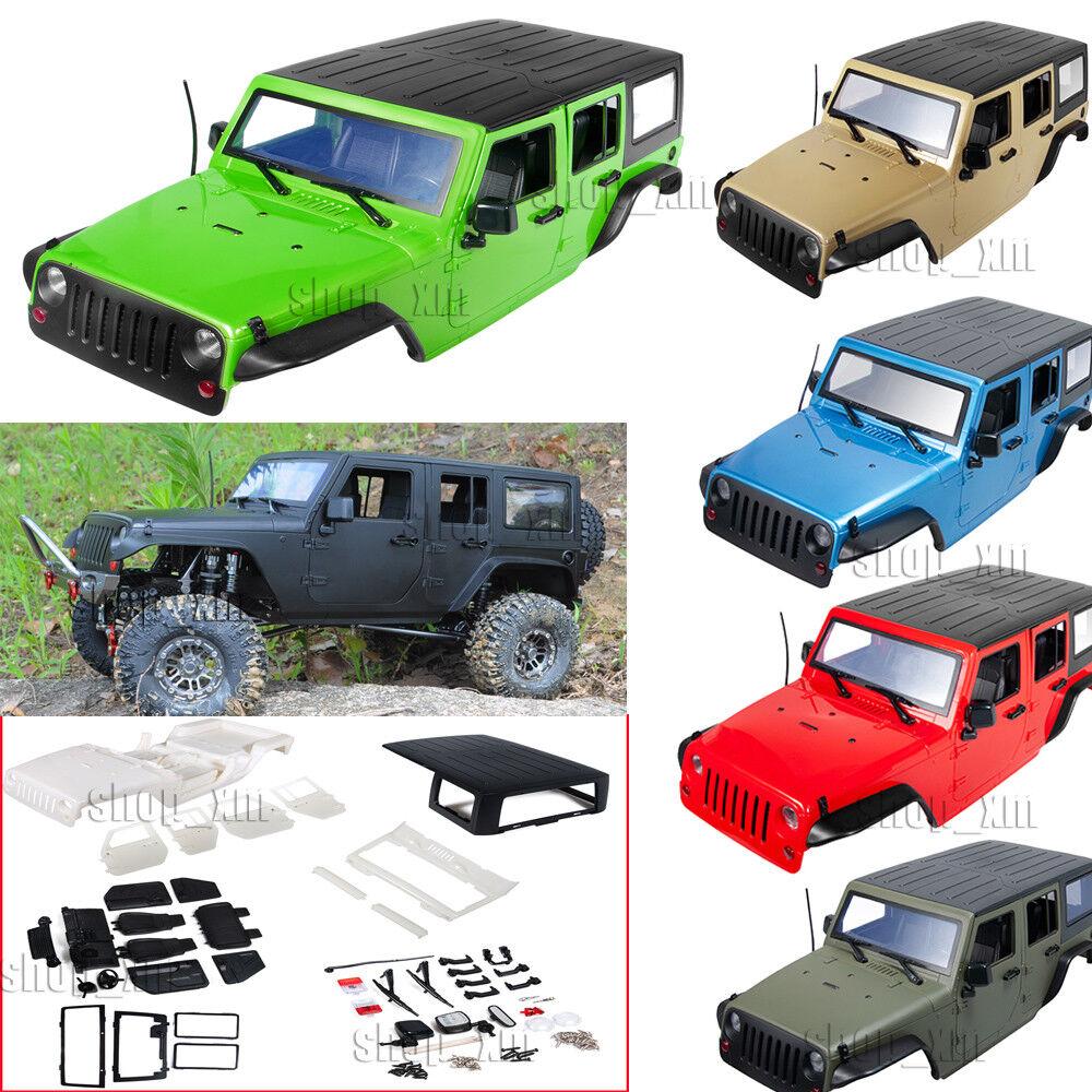 313mm Plastic Car Body Shell for 1/10 RC Jeep TRX4 Wrangler SCX10II 90046 90047