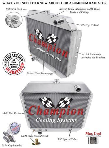 1968 1969 1970 1971 1972 1973 1974 Ford F-350 Pickup 2 Row DR Radiator V8 Engine
