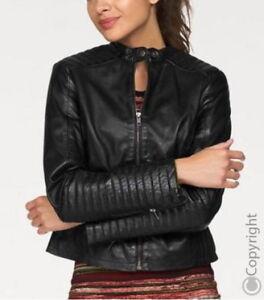 sports shoes 4d8be 56948 Details zu AJC-Damen- Lederjacke -Leather jacket -Lammnappa-Biker  Style-Gr.38,40,42,44 -NEU