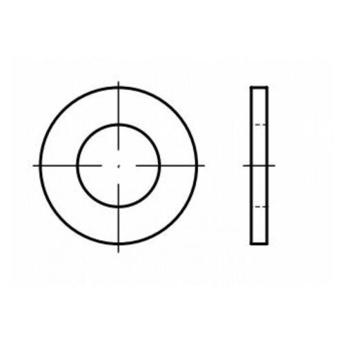 Form B 8,4 Stahl galvanisch verzinkt gelb chroma DIN 125 Scheibe 8,4x16x1,6