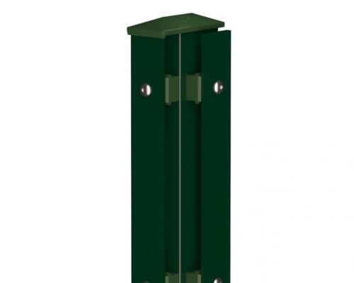 Camas Eckpfosten Rechts Typ1 830mm moosgrün Doppelstabmattenzaun
