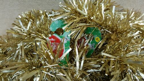 WILKO 4 x Christmas Tinsel Gold Premium Thick Quality Foil Finish 2 Metres Long