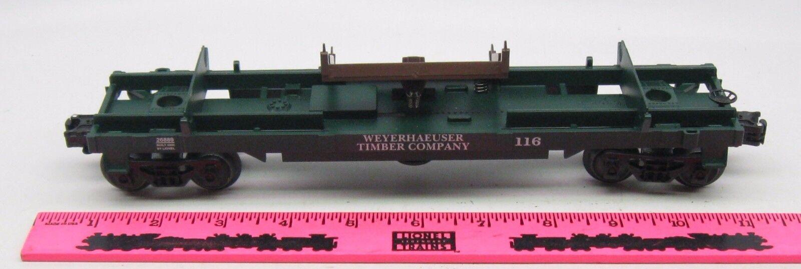 Lionel 26889 Weyerhauser Timber Company 116 log car