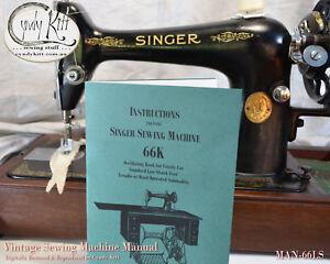 Singer-66K-Treadle-Manual-Repro