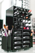 Spinning Acrylic Makeup Organizer Holder  | Cosmetic Lipstick & Compact Tower