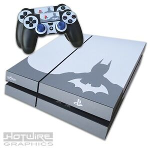 Playstation-4-PS4-Skin-Sticker-Kit-BATMAN-Sillouette-Arkham-Knight-Gotham