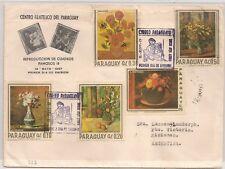 COVER PARAGUAY TO ARGENTINA. VAN GOGH RENOIR CHARDIN CEZANNE FONTANESI. L555