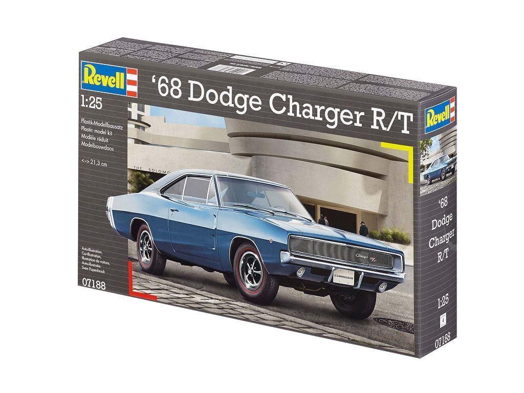 Revell 1968 Dodge Charger R T 1 25 Model Kit - 07188