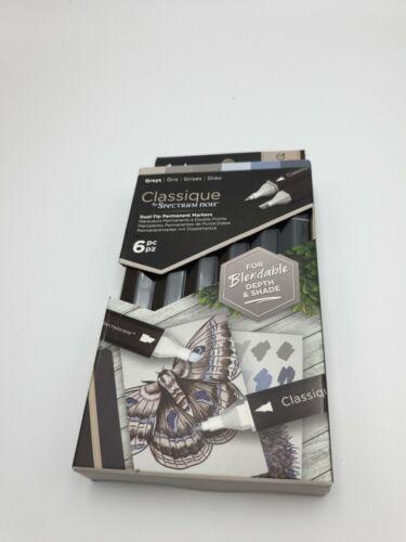 Spectrum Noir Classique Colouring System 6 Pen Set greys