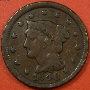 gt-034-SCARCE-034-1848-LARGE-ONE-CENT-BRONZE-COIN-Very-Fine-Pre-Civil-War-Era-Coin