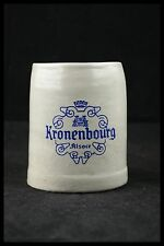 VINTAGE KRONEMBOURG ALSACE CHOPE EN GRES ANCIEN LOGO BOCK à BIERE 5/20 1/4