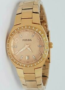 Authentic-Original-Fossil-AM4508-Rosegold-Ladies-Womens-Watch