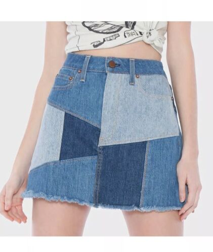 Alice + Olivia Denim Patchwork Skirt $298 29