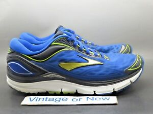 finest selection b05a1 77f1a Details about Men's Brooks Transcend 3 Electric Blue Lime Punch Black  Running Shoes sz 8