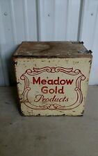 Vintage Meadow Gold wood milk box