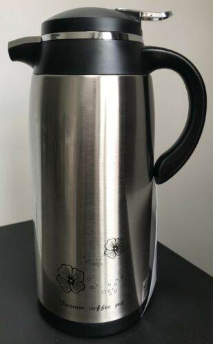 VACUUM FLASK STAINLESS STEEL TEA COFFEE HOT COLD DRINKS THERMOS CAMPING WATER