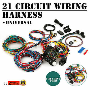 s l300 21 circuit wiring harness chevy universal ford x long hotrods ebay wiring harness chevy colorado at bayanpartner.co