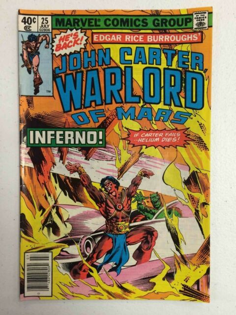 John Carter Warlord of Mars #25 Comic Book Marvel 1979