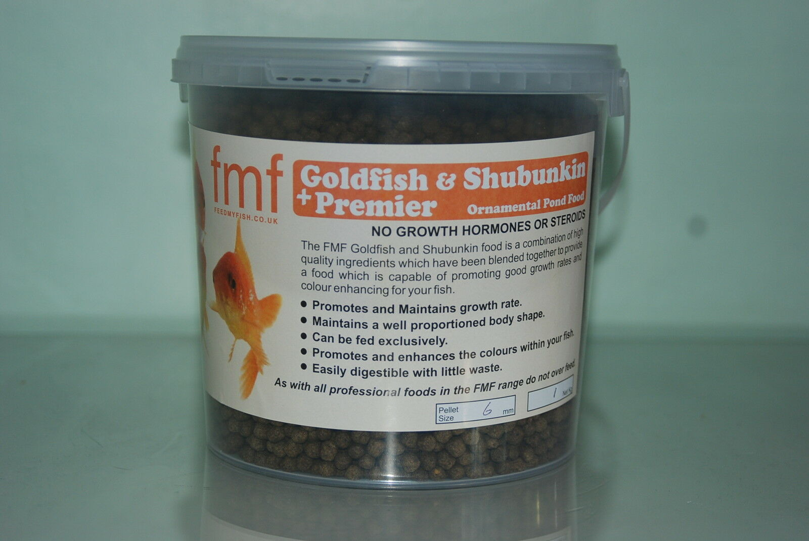 FMF Goldfisch & Ornamentalen Premier + Teich Fischfutter 4kg Eimer 3 mm Paletten