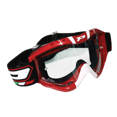 Progrip Pro Grip 3400 RETRO goggles motocross Red//Wht ATV