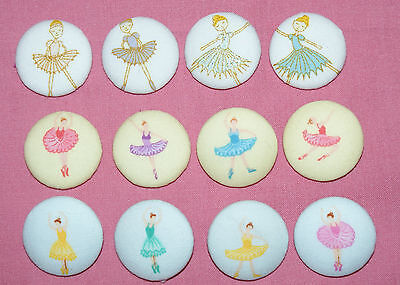 BALLERINA FABRIC COVERED BUTTONS available in 30mm size