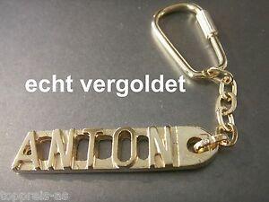 Selbstlos Edler SchlÜsselanhÄnger Anton Vergoldet Gold Name Weihnachtsgeschenk Keychain Wohltuend FüR Das Sperma Büro & Schreibwaren