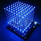 1PCS 3D LightSquared DIY Kit 8x8x8 3mm LED Cube Blue Ray LED