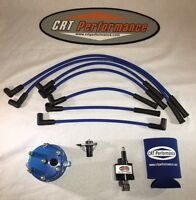 Jeep Wrangler Ignition Tune Up Upgrade Kit 1998 1999 Tj 4.0l 242 Blue Cap/wires