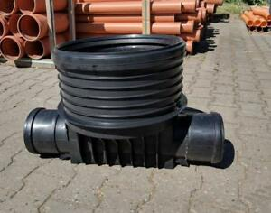 Abwasser-Kontroll-Revisions-Schacht-Boden-DN-400-gerader-Durchlauf-KG-DN
