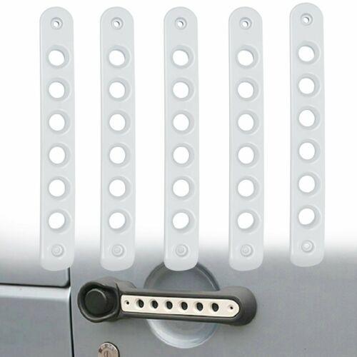 5pcs Aluminum Door Grab Handle Cover Trim for Jeep Wrangler JK 2007-2017 White
