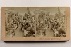 US USA Soldati 1900 Foto Stereo Vintage Albumina