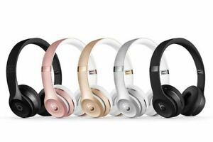 New Beats By Dr Dre Solo3 Solo 3 Wireless Headphone Matt Black Gloss Black Gold Ebay