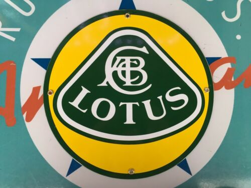 top quality LOTUS automobiles porcelain coated 18 GAUGE steel SIGN