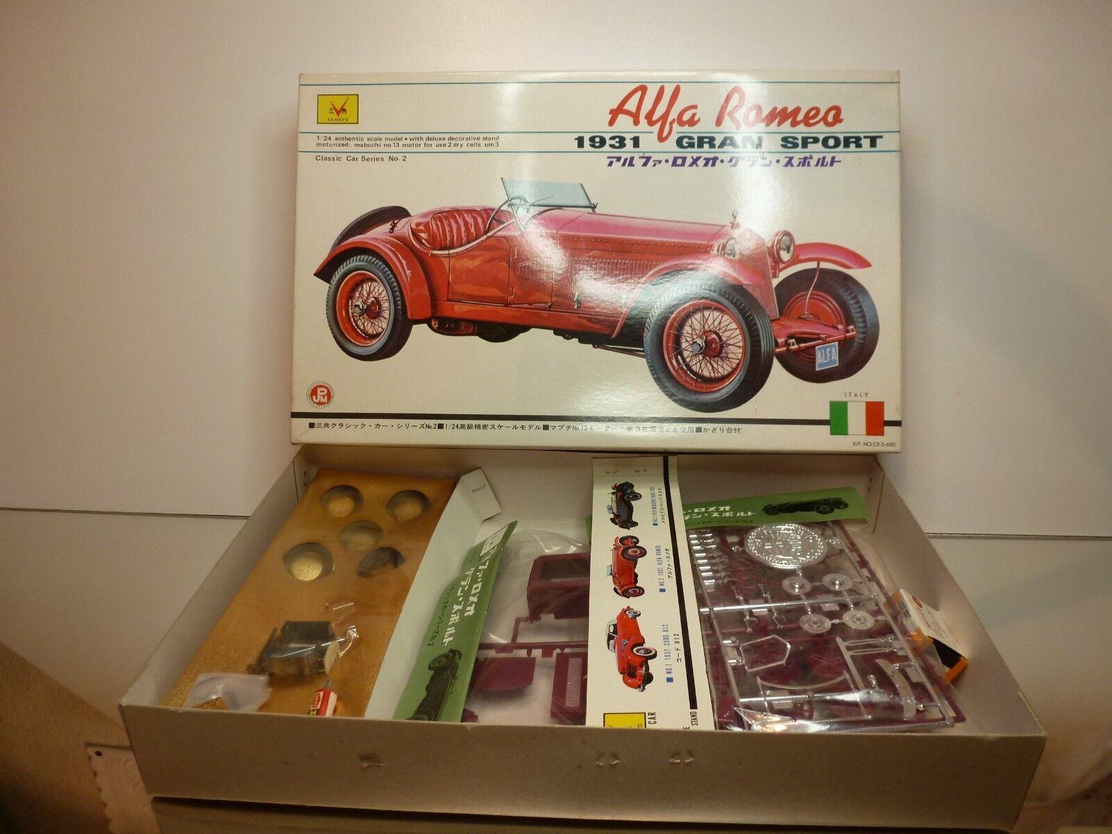 SANKYO KIT (unbuilt) ALFA ROMEO GRAN SPORT 1931 - rouge  1 24 - RARE - NMIB  meilleure mode