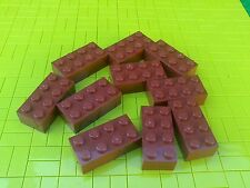 NEW LEGO BRICKS - 10 x 2x4pin BROWN BUILDING BRICKS 3001 -