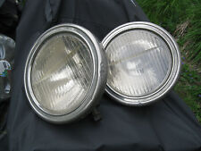 Vintage Antique Bucket Bullet Style Headlights Ford Chevy Dodge Hot Rat Rod Pair