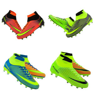 Hombre-Adultos-Exterior-Futbol-Tacos-Zapatos-FG-Tobillo-Camiseta-Botas-De-Futbol