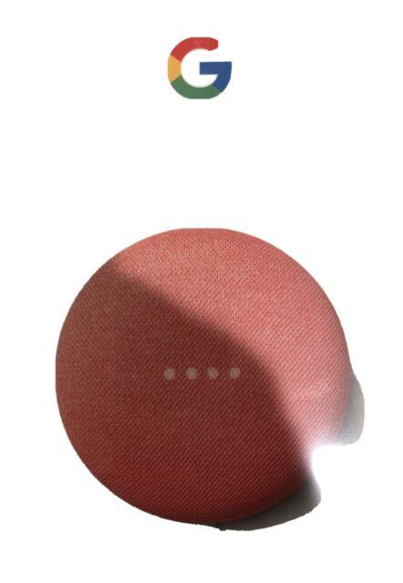 Google Nest Mini (2nd Generation) Smart Speaker - Coral - Brand New & Sealed