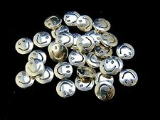 30 Pcs - 10mm Large Tibetan Silver Smiley Face Spacer Beads Craft Beading G126